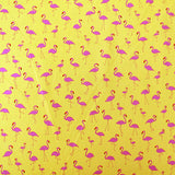 Printed Cotton - Flamingo Party - Yellow/Pink