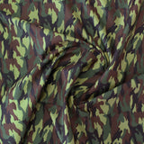 Printed Cotton - Green Camo Print