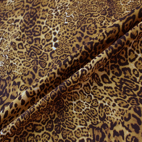 Printed Cotton Lula's Leopard - Golden Brown