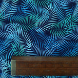 Printed Cotton Navy Blue Jungle Trails