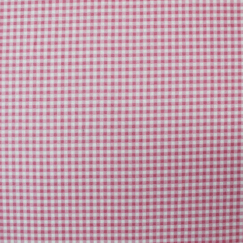 Printed Cotton Bright Pink Gingham - Glinda