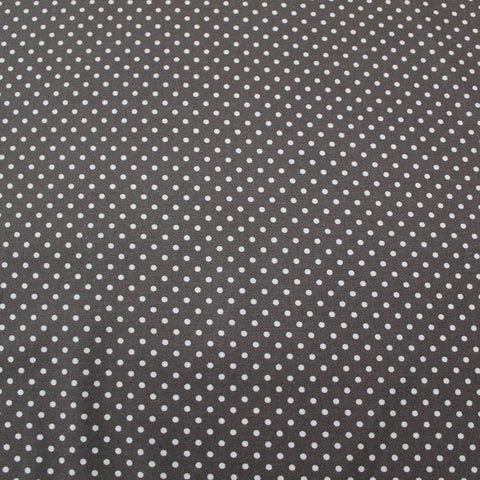 Polka Dot Cotton - Grey