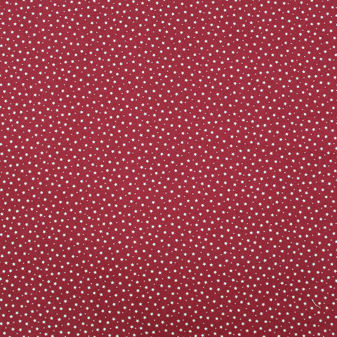 Printed Cotton Stars and Spots - Antique Red