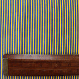 Printed Cotton Stripe - Royal Blue/Yellow - Marching On Together