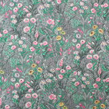 Printed Floral Cotton- Kimmy's Grey and Green Meadow