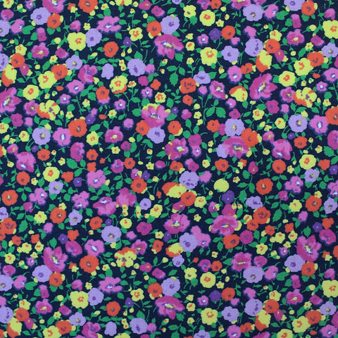 Printed Cotton - Strawberry Field - Dark