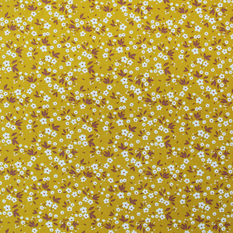 Printed Floral Cotton - Gracie - Yellow