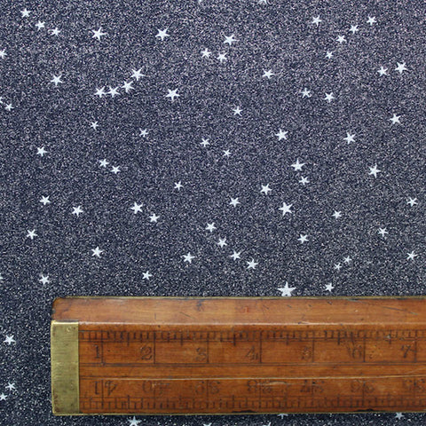 Printed Christmas Blue Cotton - A Glittering Night Sky