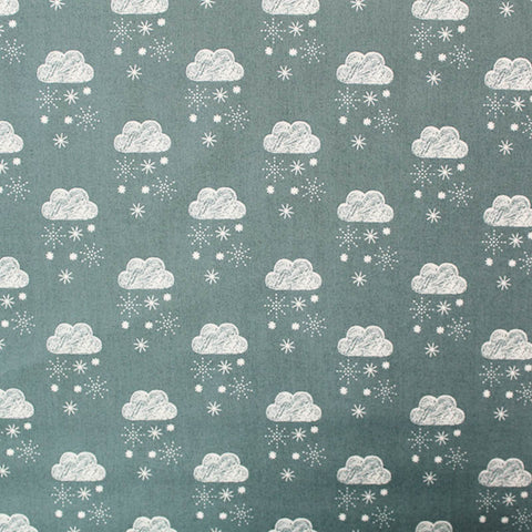 Printed Grey Cotton - Bring the Rain