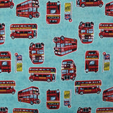 Printed Cotton - London Vintage Routemaster Bus 137