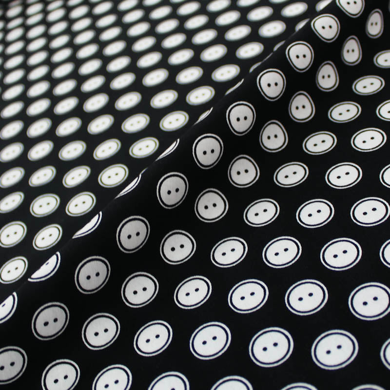 Printed Novelty Cotton - Monochrome Buttons