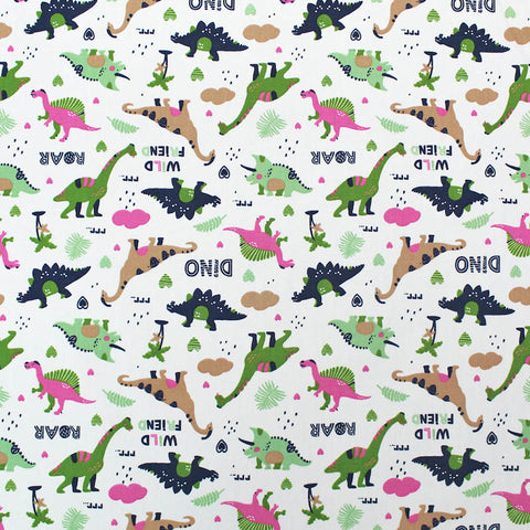 Novelty Printed Cotton - A Walk in the Park - White