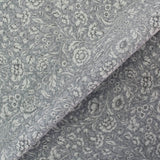 Printed Pale Grey Floral Cotton - Diana