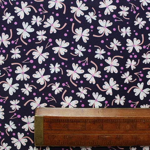 Purple Floral Printed Cotton - Twiggy