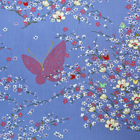 Printed Mauve Patchwork and Quilting Cotton - Metallic Butterfly Blossom
