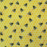 Printed Worker Bee Yellow Cotton - Didsbury