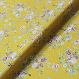 Printed Yellow Floral Cotton - 1920's