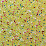 Printed Floral Yellow Cotton - Tumbling Bright Berries
