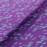 Printed Purple Cotton - Keep Swimming - Turquoise