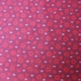 Christmas Cotton Cherry Red - Eight Point Star