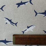 Home Furnishing Linen Look Cotton Mix -Sharky and George Print