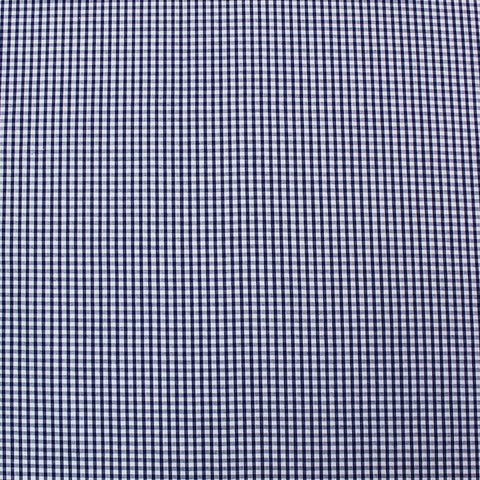 Small Check Corded Gingham - Navy Blue