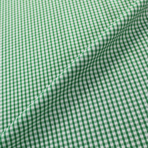 Small Check Corded Gingham - Leaf Green