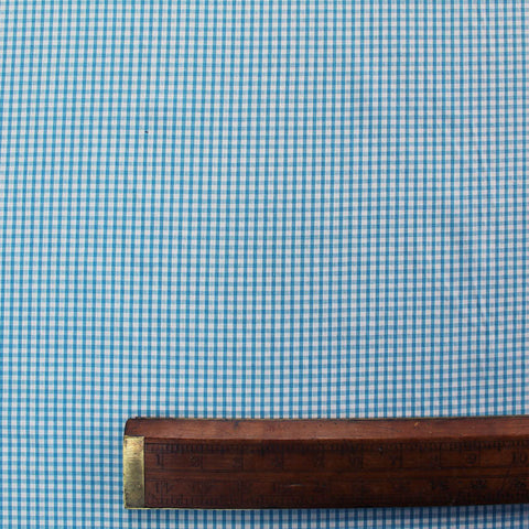 Small Check Corded Gingham - Turquoise