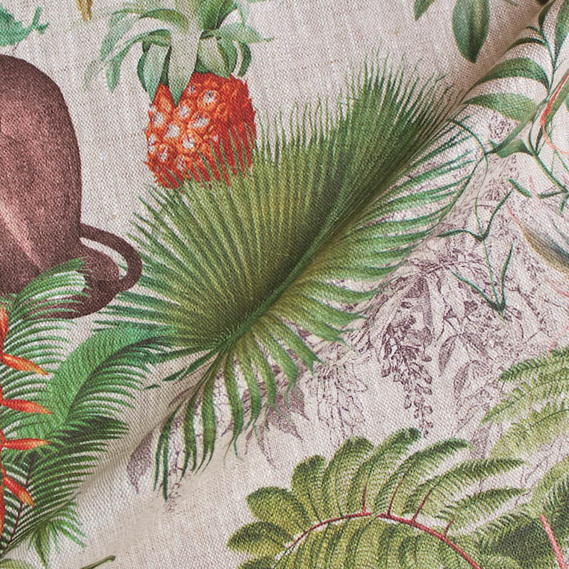 Linen Home Furnishing Fabric - Rules of the Jungle