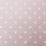 Spots Home Furnishing Fabric - Pale Blush Pink
