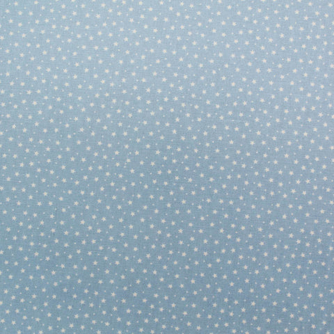 Printed Cotton Stars and Spots -Palest Powder Blue