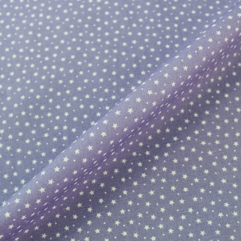 Printed Cotton Stars and Spots - Lilac Purple