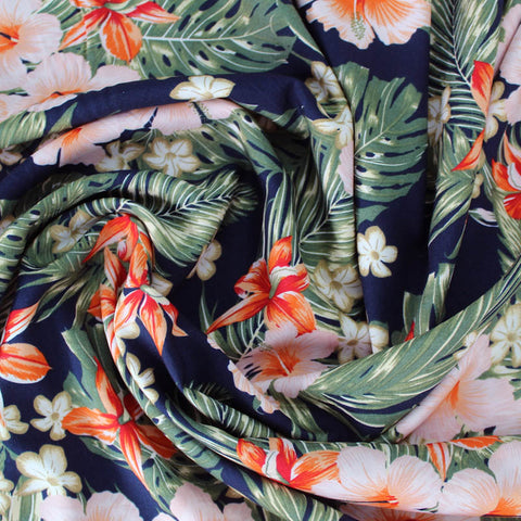 Tropical Print Viscose - Meet at the Beach Bar at 8?