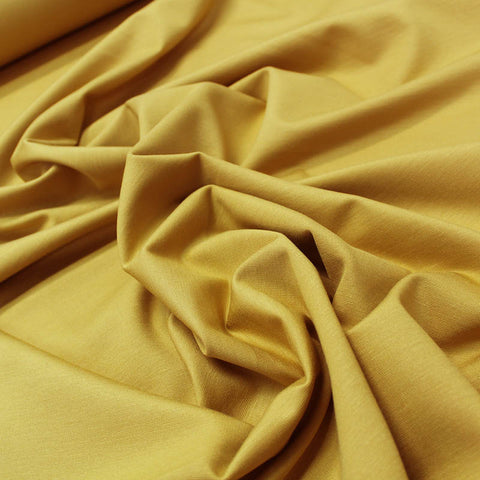 Ponte Roma Viscose Double Jersey - Ochre Yellow