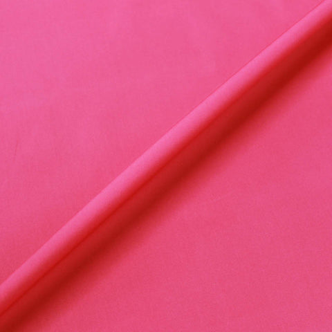 Watermelon Plain Pink Cotton Poplin