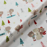 Christmas Cotton White Printed - Snoooow Fun