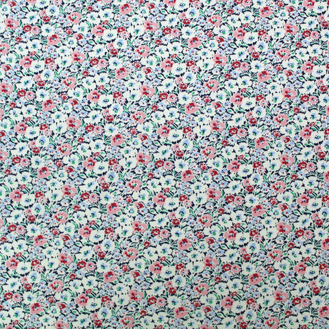 Floral Cotton Poplin White- Impression