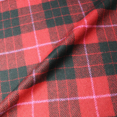 Wool Check - Red and Black - The Menace