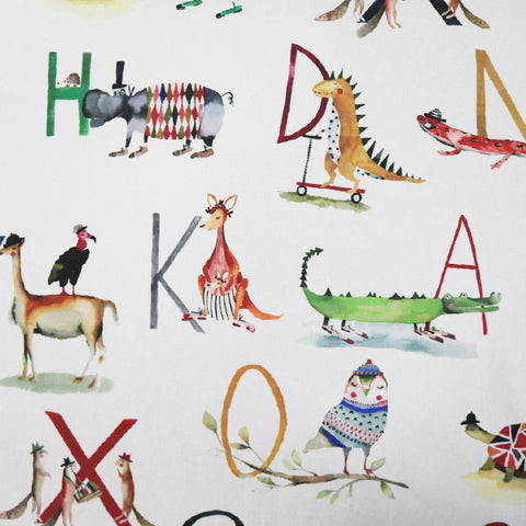 Alphabet Animals Home Furnishing Fabric