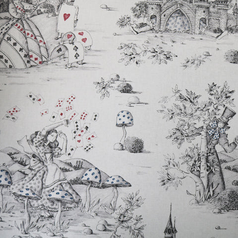 Alice in Wonderland Sketch Home Furnishing Fabric
