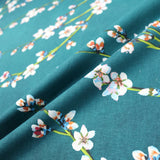 Fleurs D'Amandier Cotton Panama Home Furnishing Fabric by Maison Thevenon