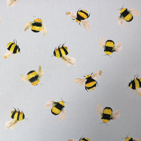 Bumble Bees - Blue background Home Furnishing Fabric