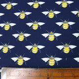 Bees Cotton - Navy
