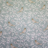 Hedgerow Birds Home Furnishing Fabric - Green