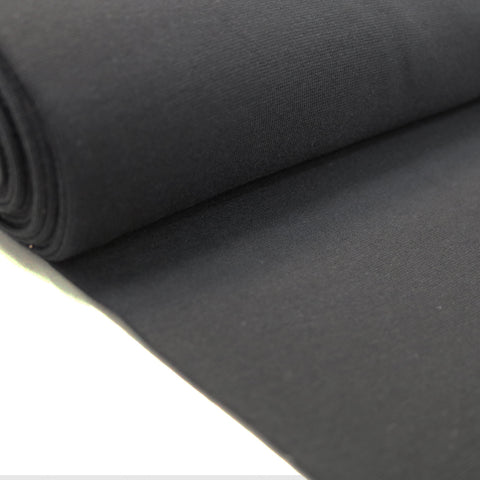 1x1 Circular Cotton Elastane Ribbing - Black