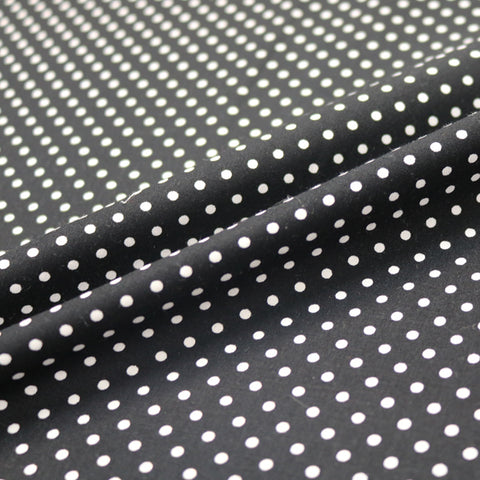 Polka Dot Cotton - Black