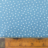 Printed Cotton Stars and Spots - Cornflower Blue
