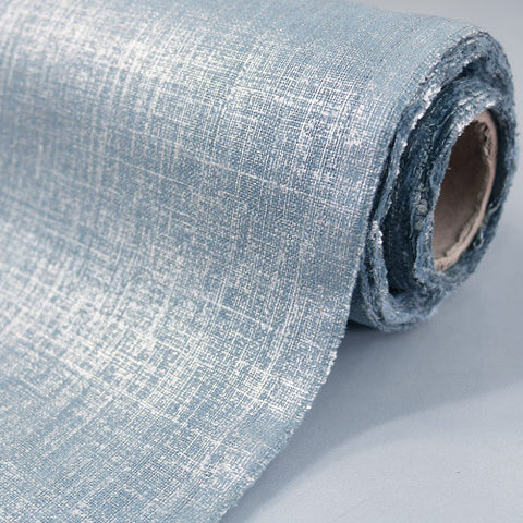 Home Furnishing Metallic Linen/Cotton Mix  - Moonstone Blue