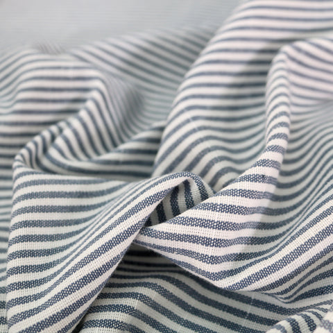 Chambray Stripe Home Furnishing Fabric - Blue