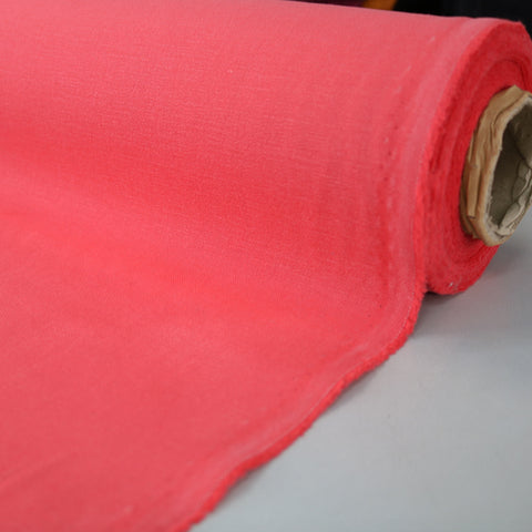 Brushed Panama Weave Plain - Coral